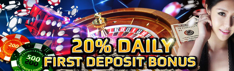 20% Daily First Deposit Bonus – CasinoJR