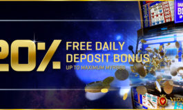 20% DAILY ONLINE CASINO BONUS- VEGAS9CLUB