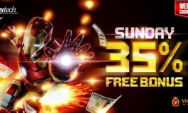 35% WEEKEND ONLINE CASINO BONUS- VEGAS9CLUB