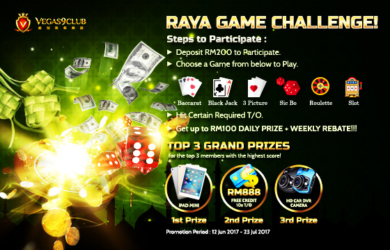 Vegas9club Raya Game Challenge