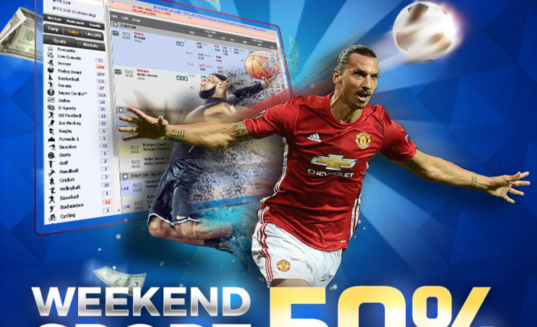 Weekend Sport Fun! 50% Free bonus for all Football betting players