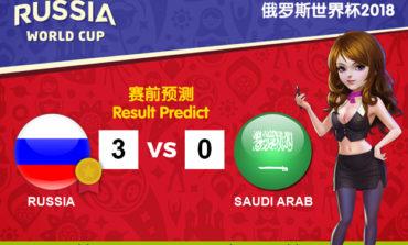 WORLD CUP PREDICT: RUSSIA VS SAUDI